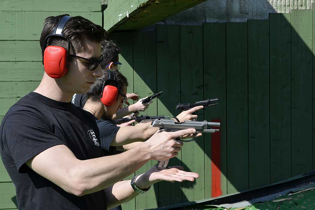 Luca Arietti shooting range