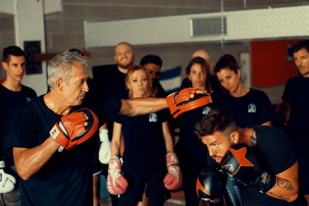 Krav Maga Training class and boxing workout