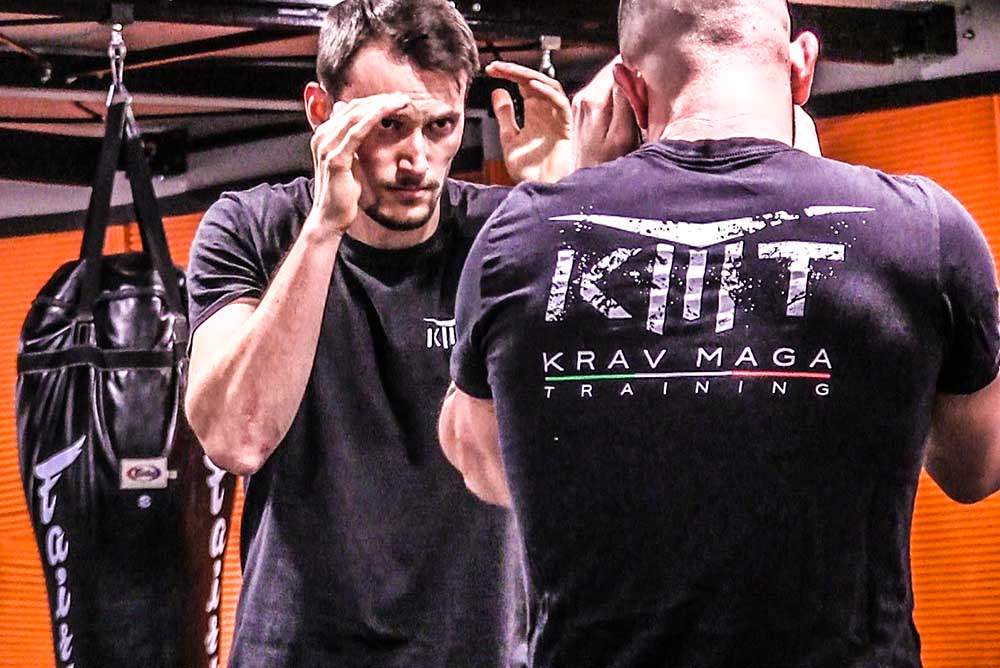 Ready to fight in Krav Maga Training gym
