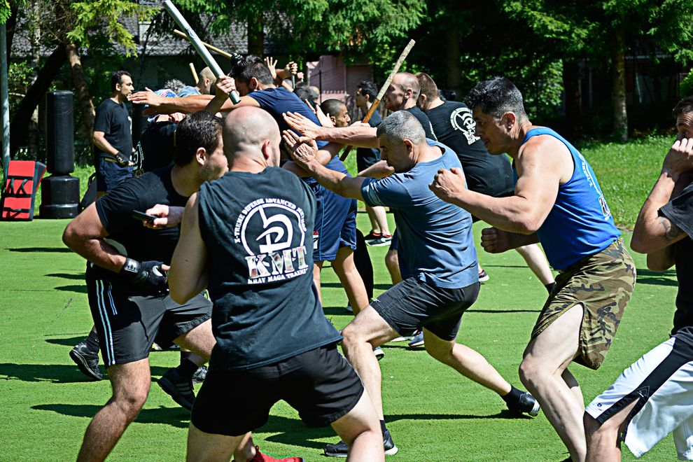 krav Maga real brawl during summer training camp