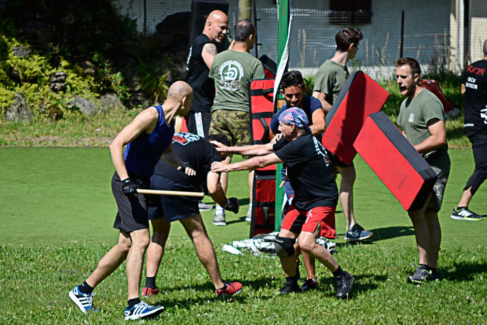 krav Maga real brawl with weapons during summer training camp