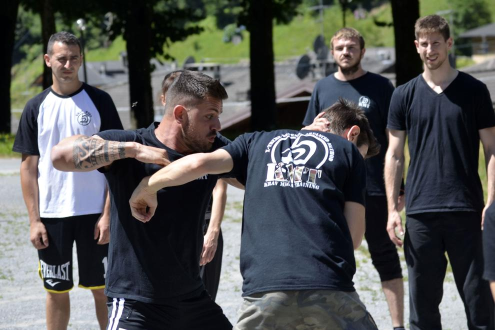 Striking techniques during the Krav Maga Training Camp - Luglio 2018