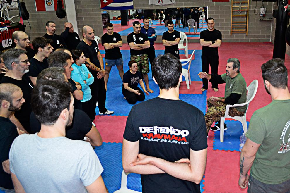 Self Defense chair technique while sitting