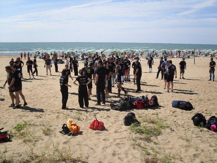 Summer Camp Krav Maga IKMI Lignano spiaggia al mare - Luglio 2011