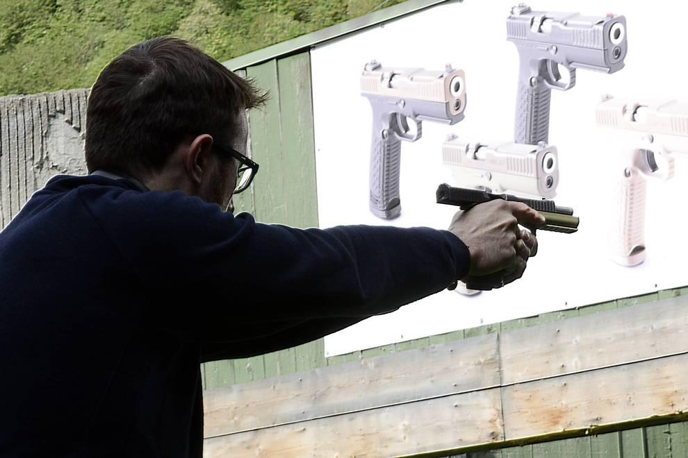 Gun shooting with Strike One Arsenal Firearms