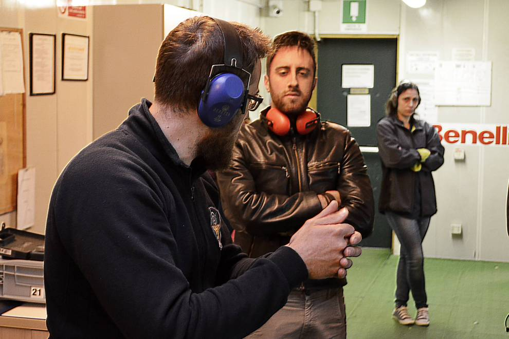 Fabrizio Ghè al poligono Benelli Armi