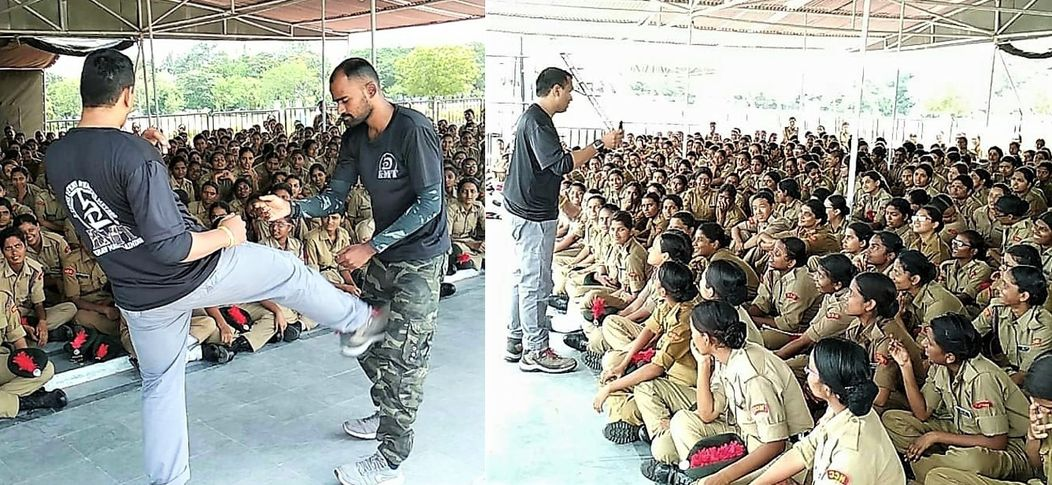 Krav Maga Training INDIA workshop for National Cadet Corps girls (Indian Army)