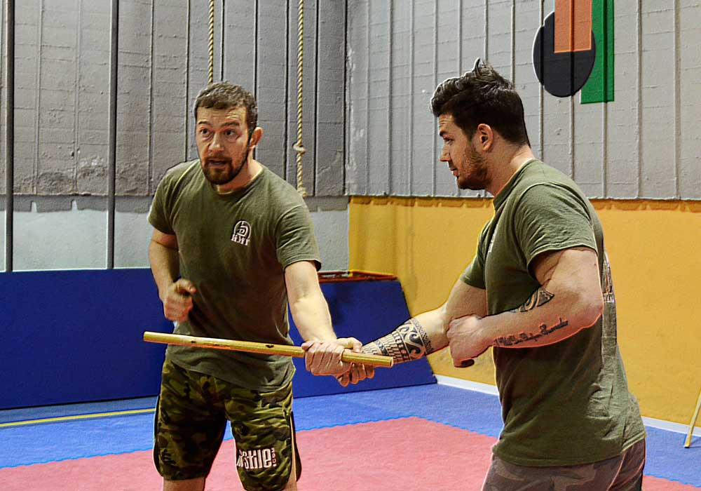 bare hands vs stick fighting techniques