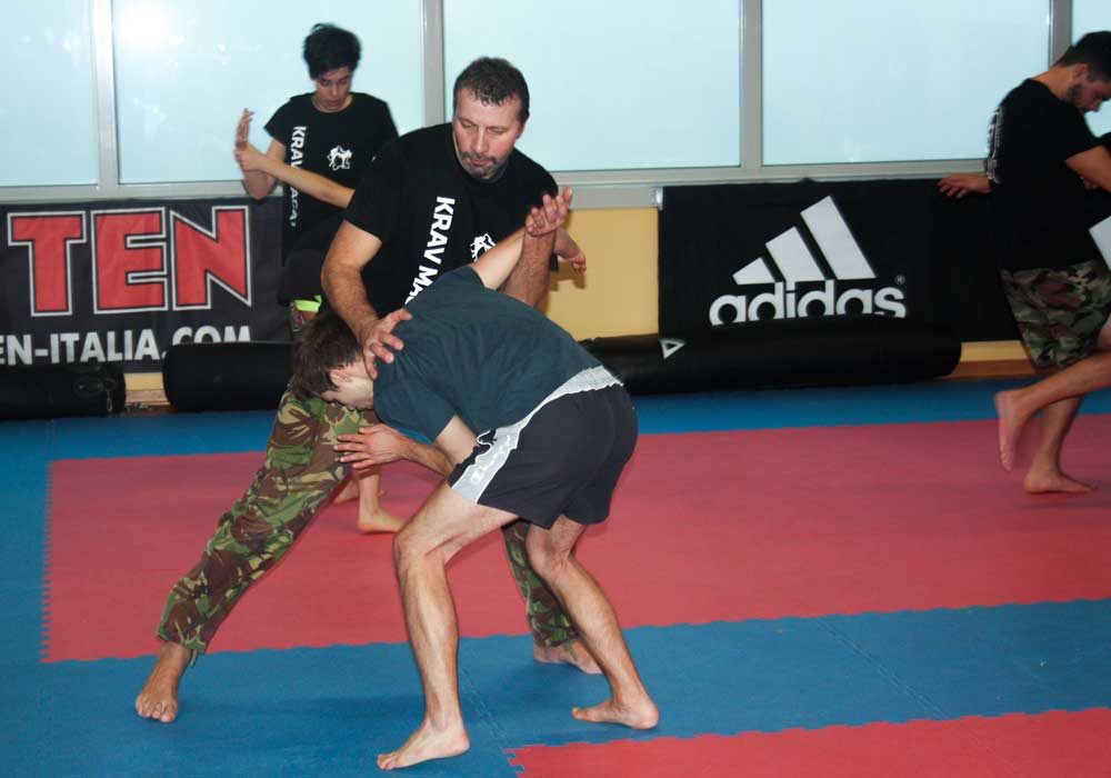 Krav Maga seminar in Parma - knee strike