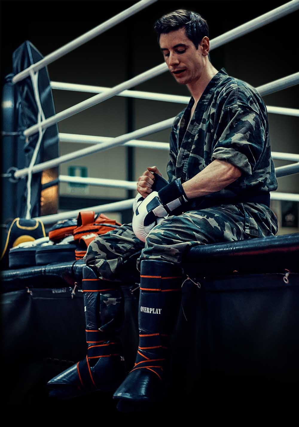 Krav Maga Training ready to fight