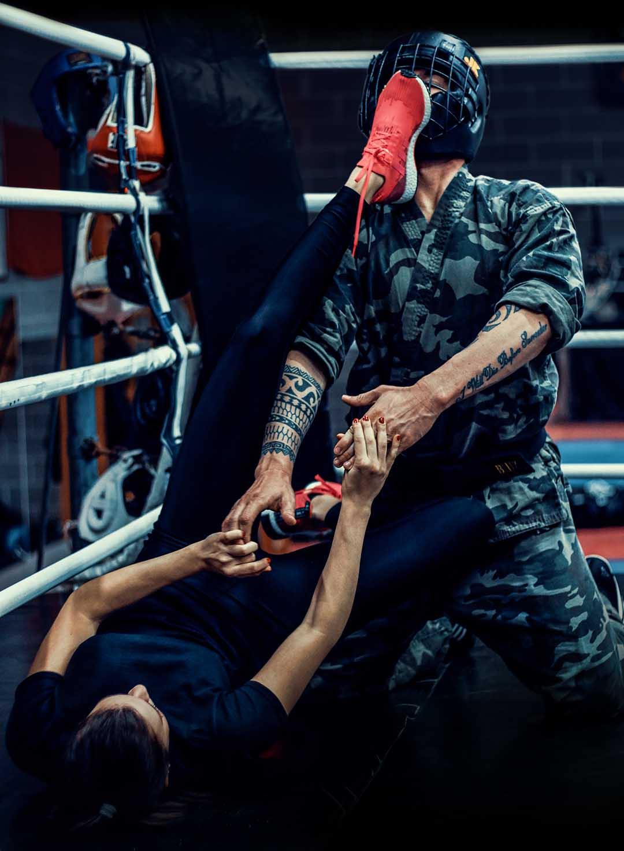 Krav Maga Girl Real Fight kicks