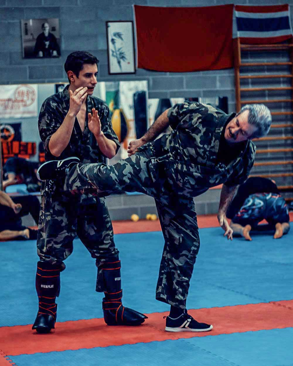 Krav Maga Training spinning back kick during a fight | FOTO | PHOTOS