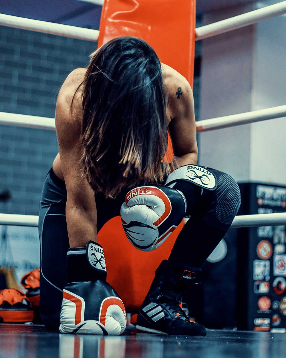 girl boxing in the ring