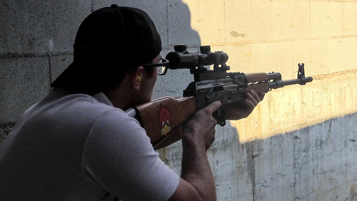 Beretta shooting range rifle AK-47 Kalashnikov